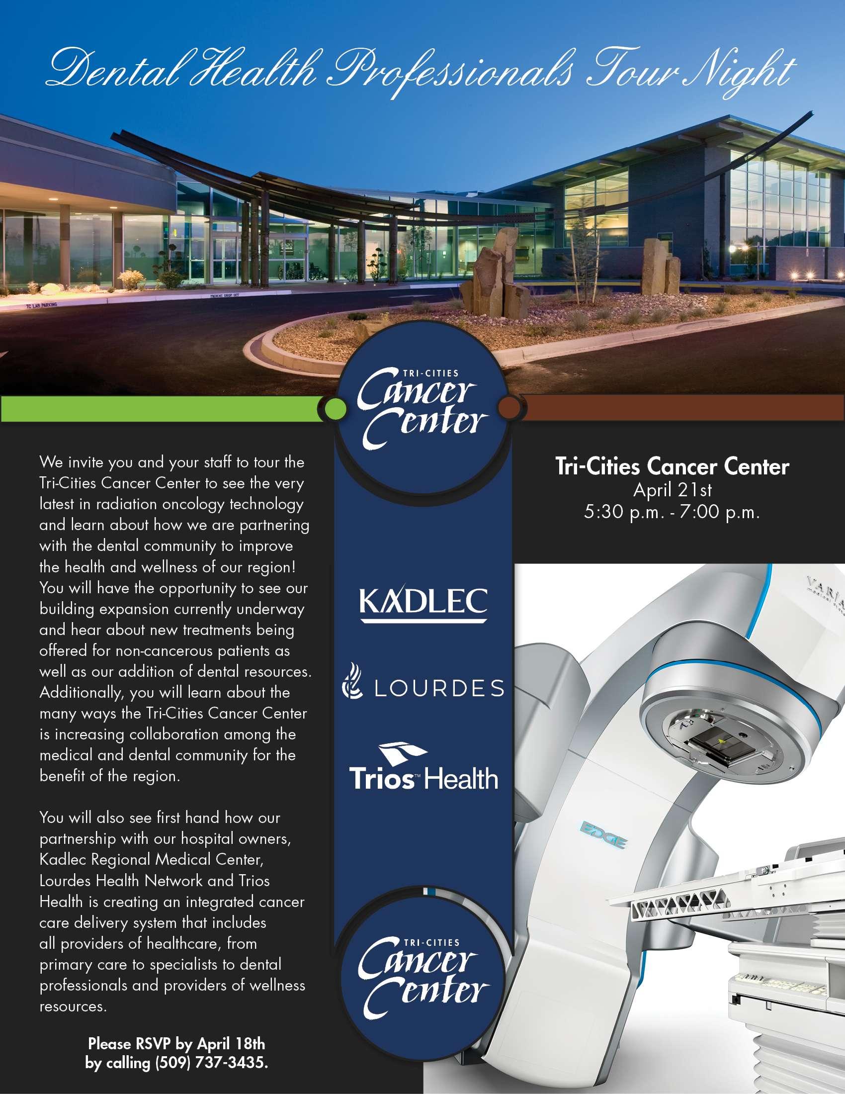 Dental Health Professionals Tour Night Flyer
