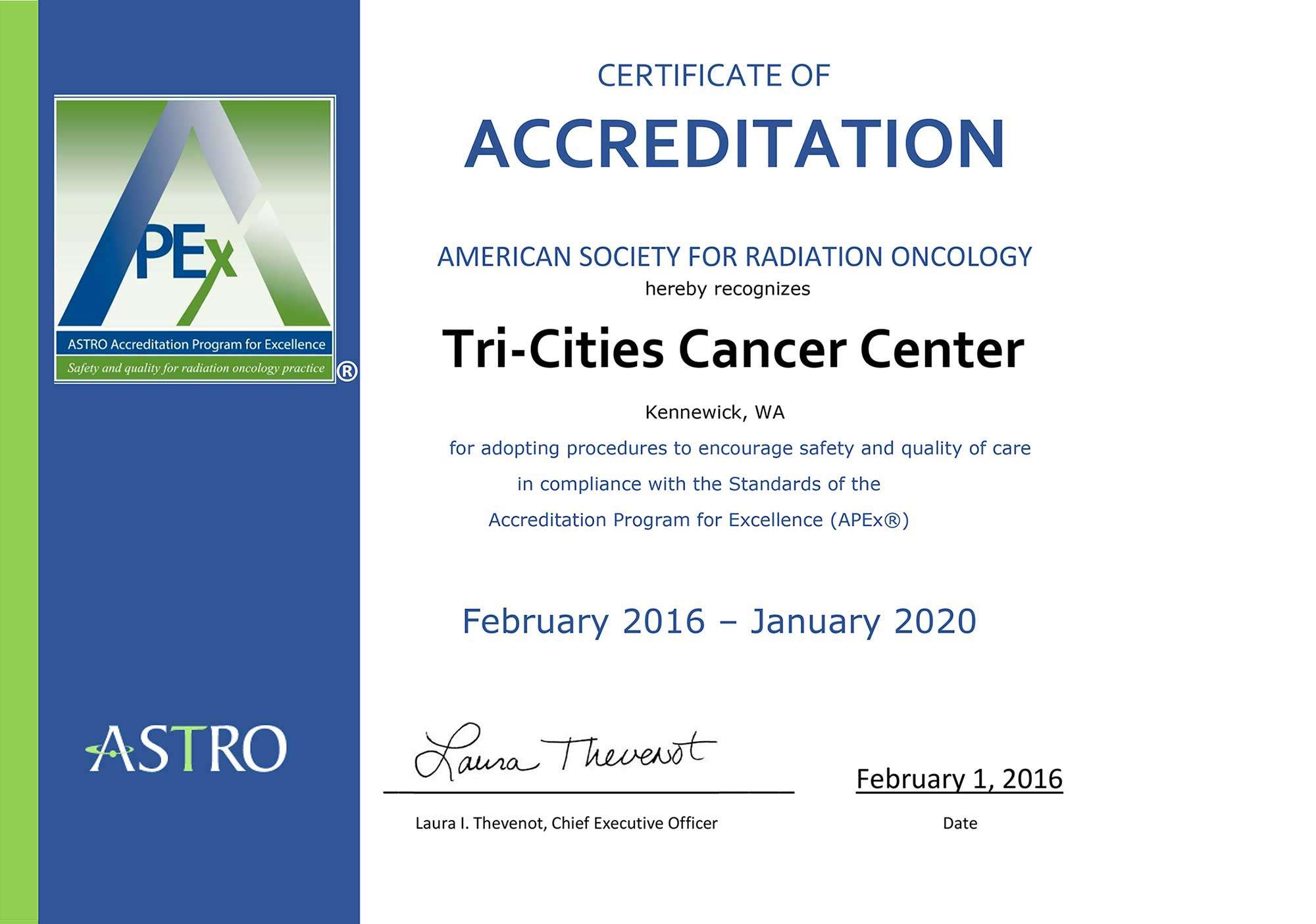First Live Site in Nation! | Tri-Cities Cancer Center